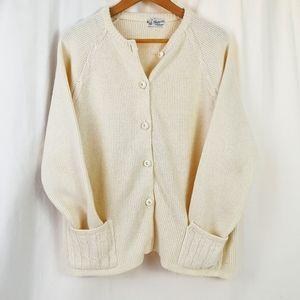Champion Vintage Knit Sweater, Cardigan L